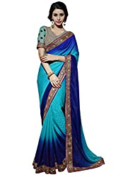 coolwomen women's georgette embroidered free size fancy saree-cw_NMN3A1803_pink_free size
