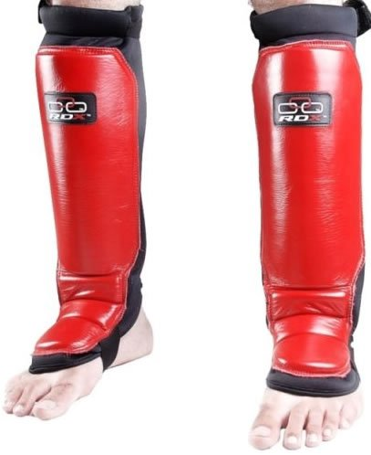 RDX Pro Shin instep Pad leg foot MMA Muay Thai guard, Small