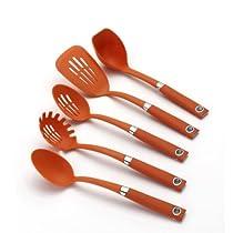 Rachael Ray Tools 5-Piece Soft-Grip Tool Set Orange