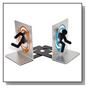 Modern Aperture Science Portal Bookends