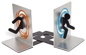 ThinkGeek - Portal Bookends Blue & Orange Portal