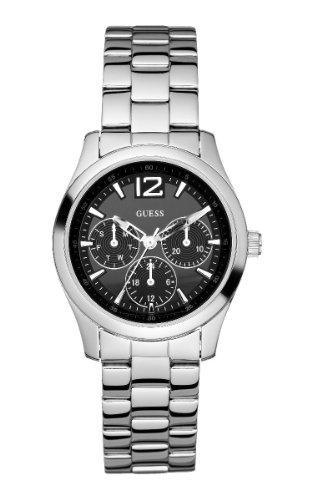 Guess Verdana W95101L1 - Reloj de mujer de cuarzo, correa de acero inoxidable color plata