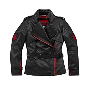 Icon Women's 1000 Federal Leather Sports Bike/Motocycle Jacket - Pursuit Black, Medium
