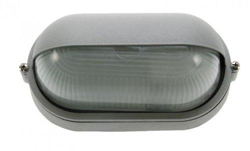 HEITRONIC Aussenwandleuchte PLANO 105x210x110 mm silber 36452