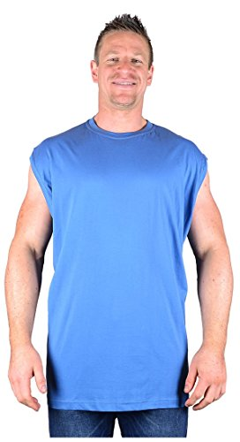 Big Mens Blue Metaphor Selston Sleeveless T-Shirt 2xl 3xl 4xl 5xl 6xl 7xl 8xl, Size : 4XL