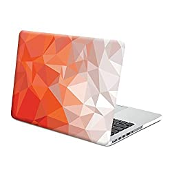 Gmyle Hard Case Print Frosted (Geometric Pattern) for 13 inch Macbook Pro with Retina Display - Orange Geometric