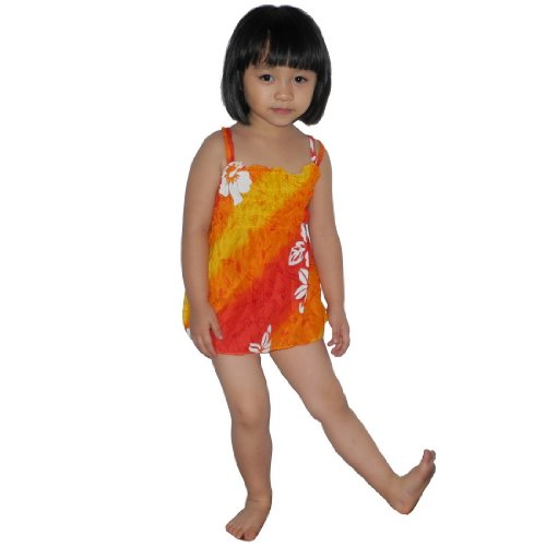 Baby Girls Thai Exotic Gathered / Smocked Bodice Flowing Sleeveless Summer Tank Dress - Size: 1-2