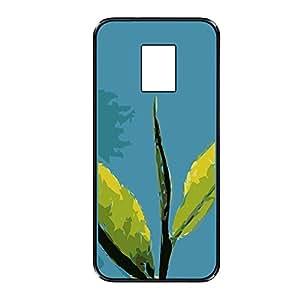 Vibhar printed case back cover for Samsung Galaxy S5 PlantOnBlue