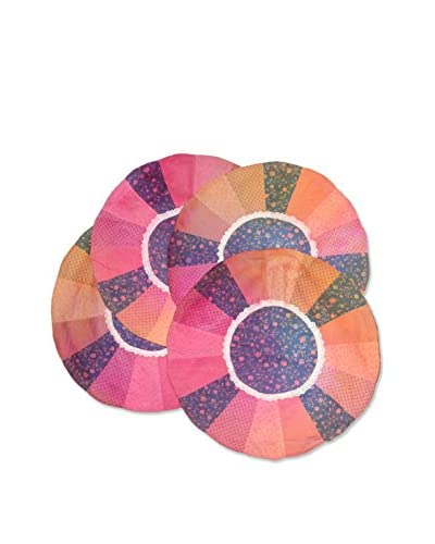 Uptown Down Set of 4 One-of-a-Kind Hand-Dyed Placemats