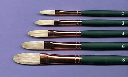 Silver Brush 1027-6 Grand Prix Premier Long Handle Hog Bristle Brush, Extra Long Filbert, Size 6 (Silver Brush Grand Prix compare prices)