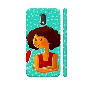 Colorpur Broken Heart Girl Designer Mobile Phone Case Back Cover For Motorola Moto E3 / Moto E3 Power   Artist: Woodle Doodle