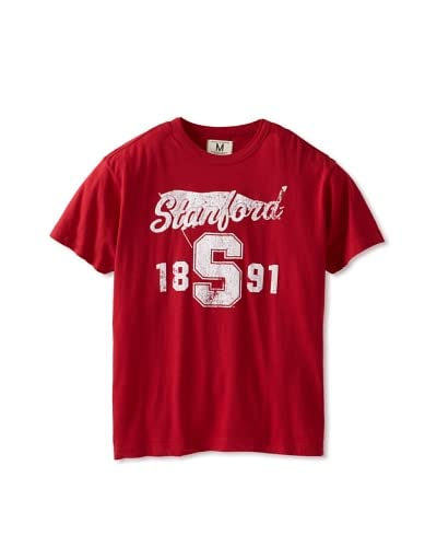 Tailgate Clothing Company Men's Stanford Banner Crew Neck Tee  [Cardinal]