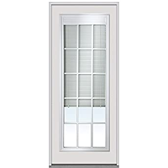 National door company erp689blimle30r entry door rehung right hand internal mini blinds with for Exterior door replacement company