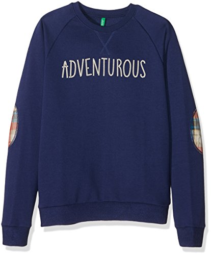 united-colors-of-benetton-3buyc-sweat-shirt-garcon-bleu-blue-7-8-ans-taille-fabricant-m