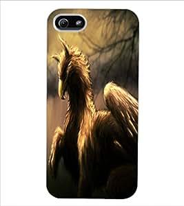 ColourCraft Fantasy Animal Design Back Case Cover for APPLE IPHONE 5