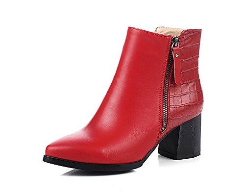 balamasa-ladies-chunky-heels-zipper-winkle-pinker-red-microfiber-boots-55-uk