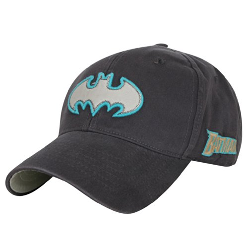 ililily Batman Logo Stitched Patch Baseball Cap Washed SnapBack Trucker Hat