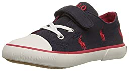 Polo Ralph Lauren Kids Kody Sneaker (Toddler/Little Kid), Navy/Red, 7 M US Toddler