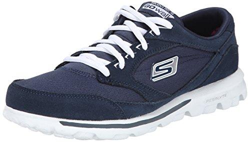 Skechers Women'S Go Walk 13775 Walking Shoe, Navy/White, 7.5 M Us