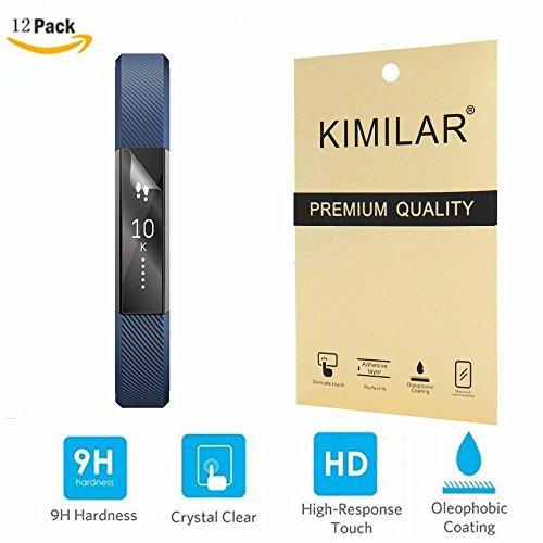 Fitbit Alta Screen Protector, Proteggi schermo ad alta definizione (HD +) KIMILAR(12 Pack) FitBit Alta bande (massima chiarezza) Super facile