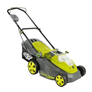 Sun Joe iON16LM iON 40V Cordless 16-Inch Lawn Mower with Brushless Motor by Snow Joe