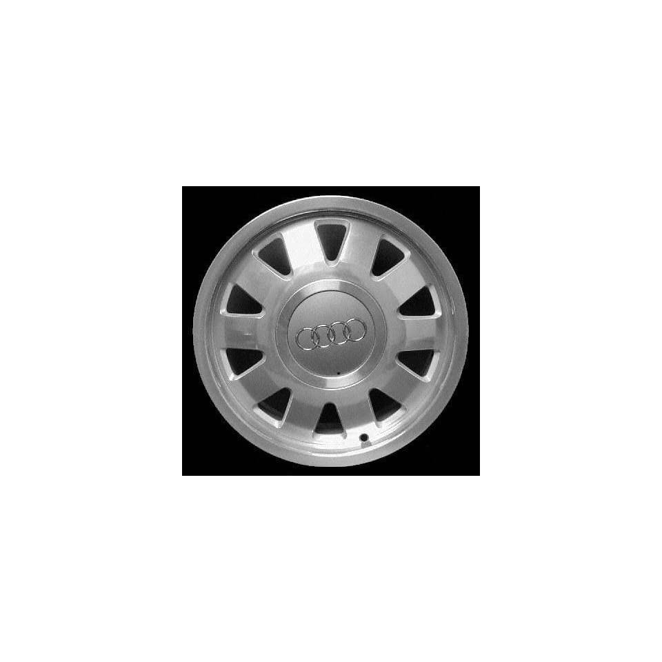 00 01 AUDI A4 ALLOY WHEEL RIM 15 INCH, Diameter 15, Width 6 (10 SPOKE), POLISHED. SILVER VENTS, 1 Piece Only, Remanufactured (2000 00 2001 01) ALY58716U10