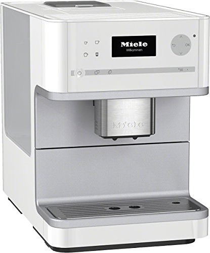 Miele CM 6100 Stand-Kaffeevollautomat mit Bohnenmahlwerk (Cappuccinatore) lotosweiß thumbnail