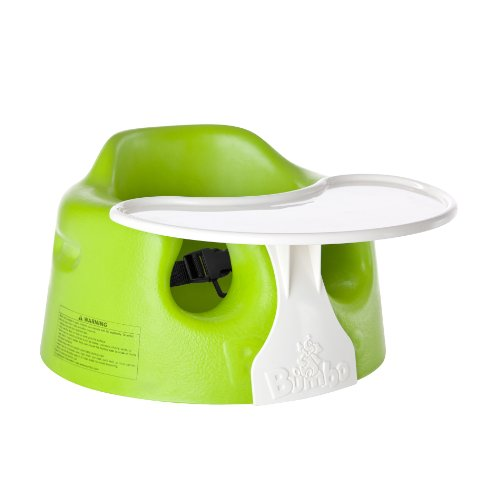 Bumbo Floor Seat And Play Tray Set, Lime front-1065563