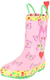 Melissa & Doug Kid\'s Sunny Patch Bella Butterfly Rain Boot (Toddler/Little Kid),Pink,8-9 M US Toddler