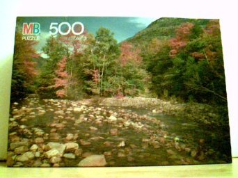 "MB Croxley 500 Piece Puzzle 13 7/8"" X 19 7/8"" - Saco River, White Mountains NH - 1"