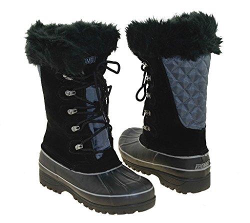 Khombu Women's Waterpoof Winter Boots Nordic 2, Blk 11 M