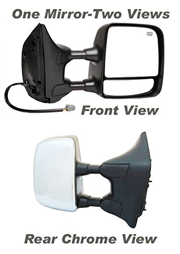 APDTY 0662867 Side View Mirror Assembly Right-Passenger Side Fits 2004-2012 Nissan Titan Power, Heated, Memory, with Big Tow Package Extends For Towing (Replaces 96301ZR30E) (Titan Tow Package compare prices)