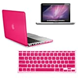 RUBAN(TM) 3 in 1 Matt HOT PINK Case for Macbook PRO 13″ A1278 + Keyboard Cover + LCD Screen