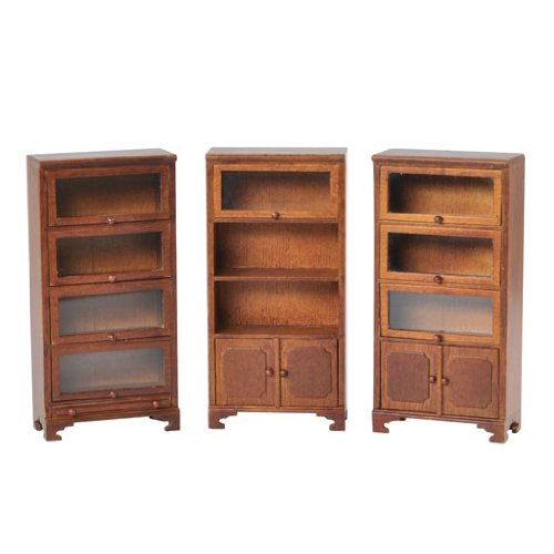 Dollhouse Miniature 3-Pc. Barrister Bookcase
