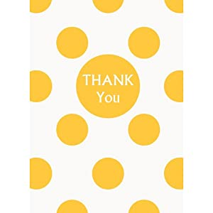 Yellow Polka Dot Thank You Notes, 8ct