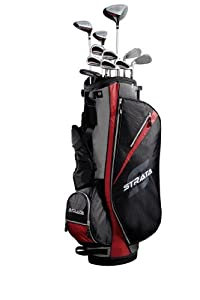 Callaway Strata Set de golf 16 pièces pour homme Fibre de carbone/acier noir Noir/Rouge 8 Kg