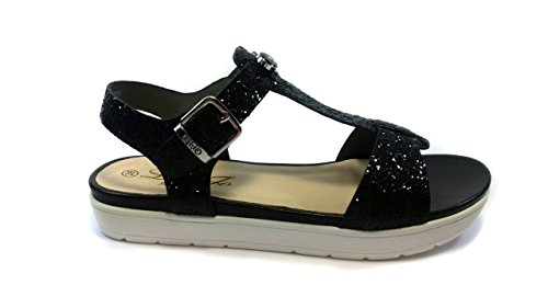 LIU JO SANDALO GLITTER - MADE IN ITALY 38, Nero MainApps