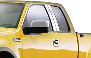 SES Trims P191 Stainless Steel Pillar Post Trim for Buick Enclave