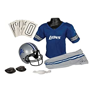 NFL Detroit Lions Deluxe Youth Uniform Set, Medium