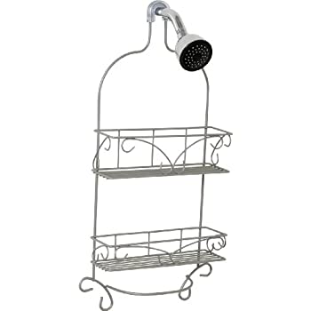 Zenna Home 7566NN, Over-the-Showerhead Shower Caddy, Satin Nickel