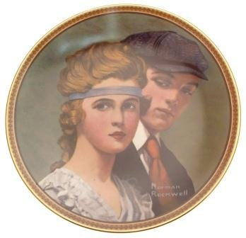 c1983 Knowles Meeting on the Path Norman Rockwell plate Rediscovered Women CP2111