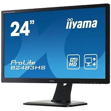 """iiyama B2483HS-B1 Ecran PC LCD 24"""" (60,96 cm) 1920 x 1080 2 ms VGA/DVI/HDMI Noir"""