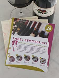 Wine Label Remover Kit - 24 WINE LABEL REMOVERS - Wine Appeal Products