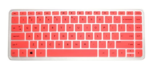 Pink Translucent Ultra Thin Soft Silicone Keyboard Protector Skin Cover For Hp Split X2 13 13-A*** 13-M*** 13-G*** 13-P*** Envy 14-K*** 14-F*** 14-E*** 14-N*** 14-V*** Series, Such As 13-A010Nr 13-A010Dx 13-A012Dx 13-M110Dx 13-M010Dx 13-G110Dx 13Z-P100 13