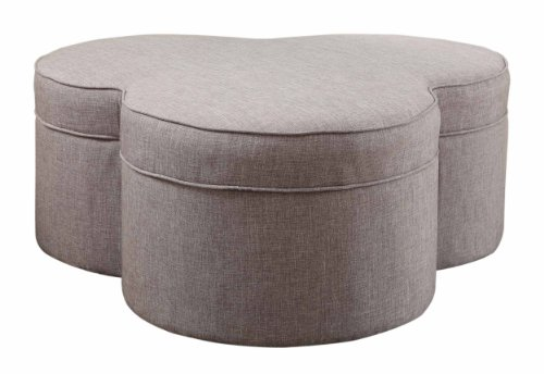 Homelegance 4608Gy Storage Ottoman/Cocktail Table With Casters, Grey