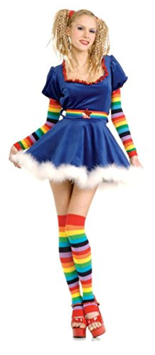 Rubies Womens Storybook Rainbow Girl Brite Sequin Doll Theme Party Costume