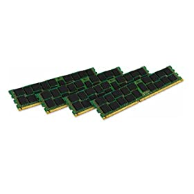 Kingston Technology ValueRAM 16GB Kit (4x4GB Modules) 1600MHz DDR3 PC3-12800 ECC Reg CL11 DIMM DR x8 Intel Certified Server Memory KVR16R11D8K4/16I