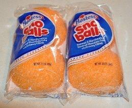 Amazon Com Hostess Sno Balls Orange 2 Packs 4 Sno Balls Cakes Grocery Amp Gourmet Food