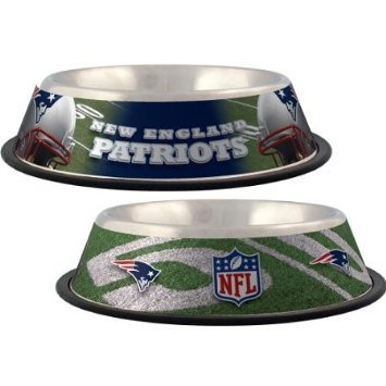 New England Patriots Dog Bowl ★ Stainless Steel ★ Licensed Nfl