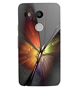 ColourCraft Amazing Butterfly Design Back Case Cover for LG GOOGLE NEXUS 5X